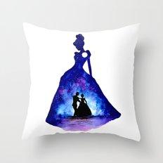 Cinderella Double Exposure - Dancing Throw Pillow