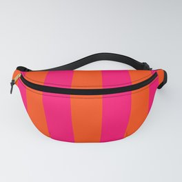 Bright Neon Pink and Orange Vertical Cabana Tent Stripes Fanny Pack