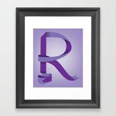 Alphabet R Framed Art Print