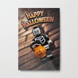 Happy Halloween, Trick or Treat - LEGO Metal Print