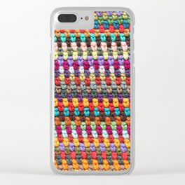 Crochet Afghan Pattern Clear iPhone Case