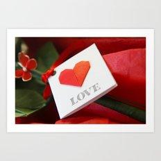 Simple Origami Love Art Print