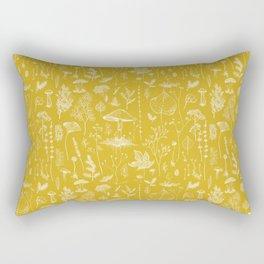 Woodland Walk / Mustard Rectangular Pillow