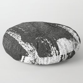CONFIDENT - black , with no background Floor Pillow