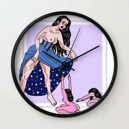 Pussy Worship Wall Clock
