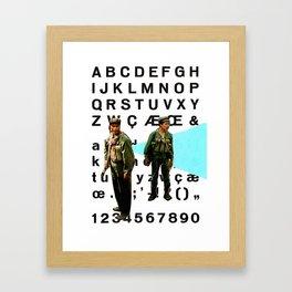 Font crimes on the front lines, vol. 2 Framed Art Print
