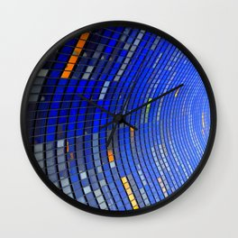 Big Blue Blocks Wall Clock