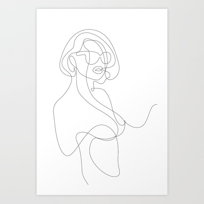 Woman in Sunglasses Art Print