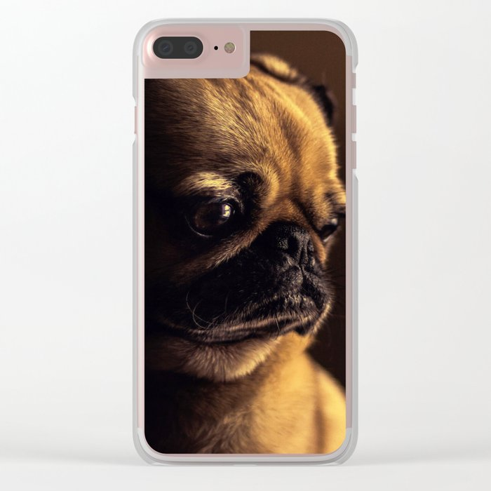 Cute Pug Dog Clear iPhone Case