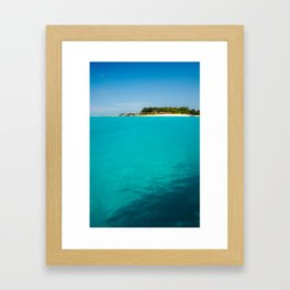 Paradise, straight ahead Framed Art Print