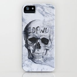 Marble IDFWU Skull iPhone Case