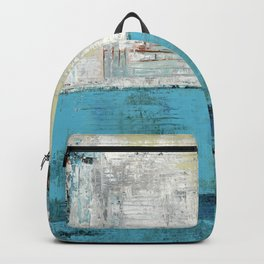 Fairbanks Abstract Light Blue White Backpack