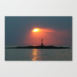 Sunset in Porec - Cloudy sky Canvas Print