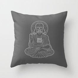 Darth Buddha Throw Pillow