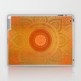 """Savanna Orange-Gold Mandala"" Laptop & iPad Skin"