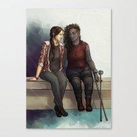 jem Canvas Prints featuring Jem & Alex by laya rose