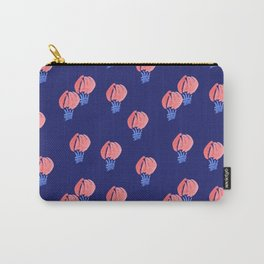 Air Balloon Pattern on Midnight Blue Carry-All Pouch