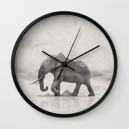 Rocky Elephant Wall Clock