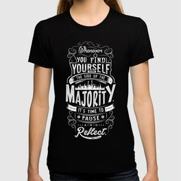 Lab No. 4 Whenever You Find Yourself Mark Twain Quotes T-shirt