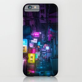 Cyberpunk city underground iPhone Case