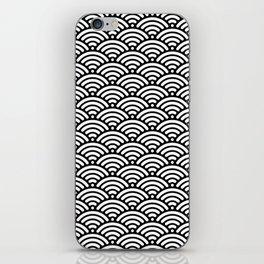 Black White Mermaid Scales Minimalist iPhone Skin