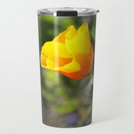 Sunlit Eschscholzia californica Travel Mug
