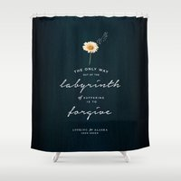 looking for alaska Shower Curtains featuring Looking for Alaska by thatfandomshop