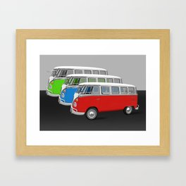 Bulli T1 parade Framed Art Print