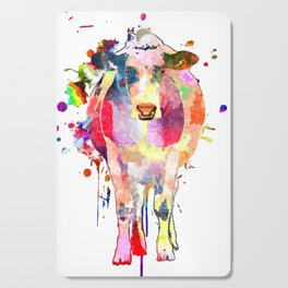 Colored Cow Cutting Board