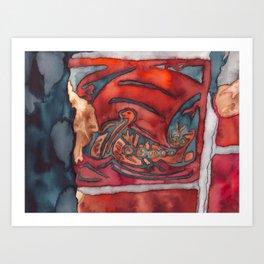 Viking Tile Art Print