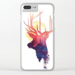 The burning sun Clear iPhone Case