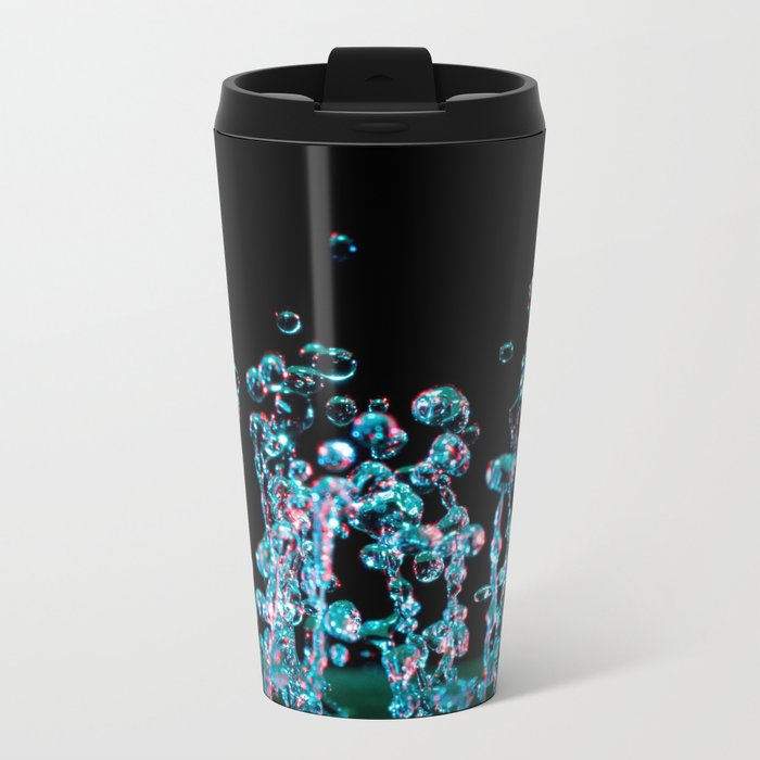 Droplets II Metal Travel Mug