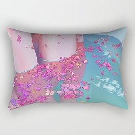 Flower Bath 4 Rectangular Pillow