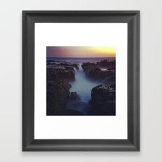 Lovely Night at the Beach Framed Art Print