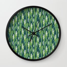 Lily of the Valley Muget Wall Clock