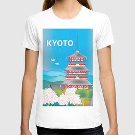 Kyoto, Japan - Skyline Illustration by Loose Petals T-shirt