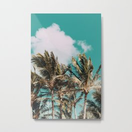 Palm Trees and Island Breeze Metal Print