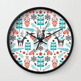 Hygge Holiday Wall Clock