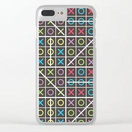 Tic-tac-toe Clear iPhone Case