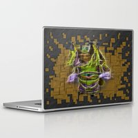 actor Laptop & iPad Skins featuring Chinese Theatre Actor In Pieces by Lucia