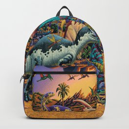 Dinosaurs flee the volcano Backpack