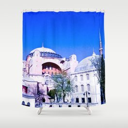 A beautiful museum. Shower Curtain