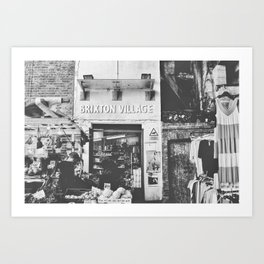 Brixton Village Market Entrance Art Print