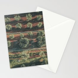 Aerial photo, italian landscape, drone photography, olive trees, nature patterns, Apulia Stationery Cards