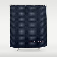 okay Shower Curtains featuring It's Okay by Little Rituals
