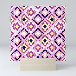 Aztec 3 Warm Mini Art Print