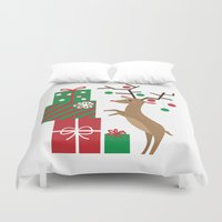 reindeer Duvet Covers featuring Reindeer by Reg Silva / Wedgienet.net