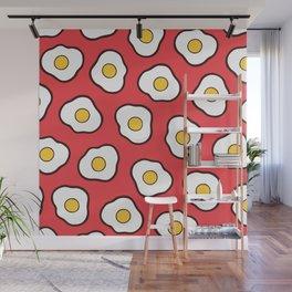 Fried Eggs Pattern Wall Mural