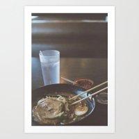 ramen Art Prints featuring Ramen  by Warren Silveira + Stay Rustic