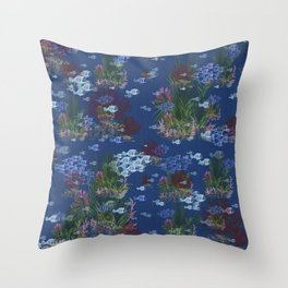 Seaside Guest Cottage Decor Throw Pillow